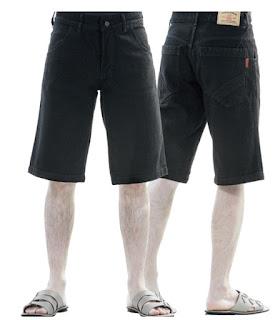 Celana Pendek Jeans AZZURA 34503