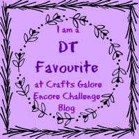 I Was DT Claudia's Favourite at Crafts Galore Encore