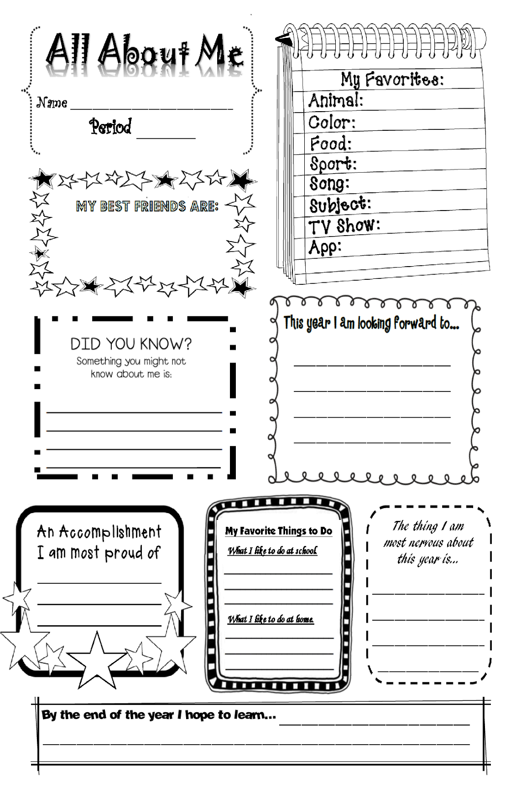 Rockstar Math Teacher My Beginning Of The Year Handouts