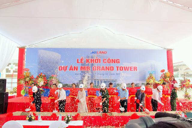 Tổ chức lễ khởi công dự án MB GRAND TOWER