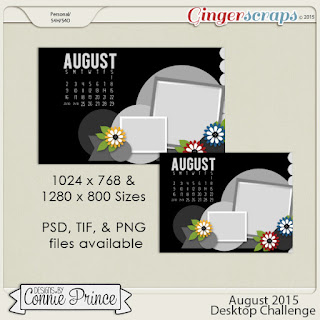 August Desktop Challenge by Connie Prince