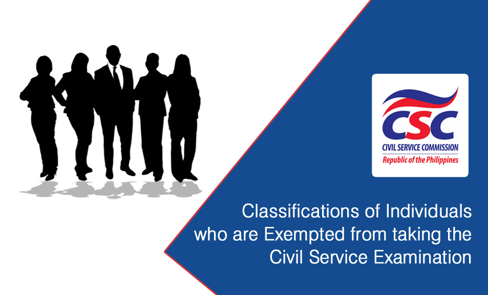 Civil Service Exam PH Classifications Of Individuals Who