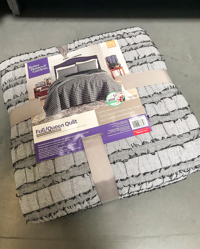Seersucker fringe edge quilt from Walmart