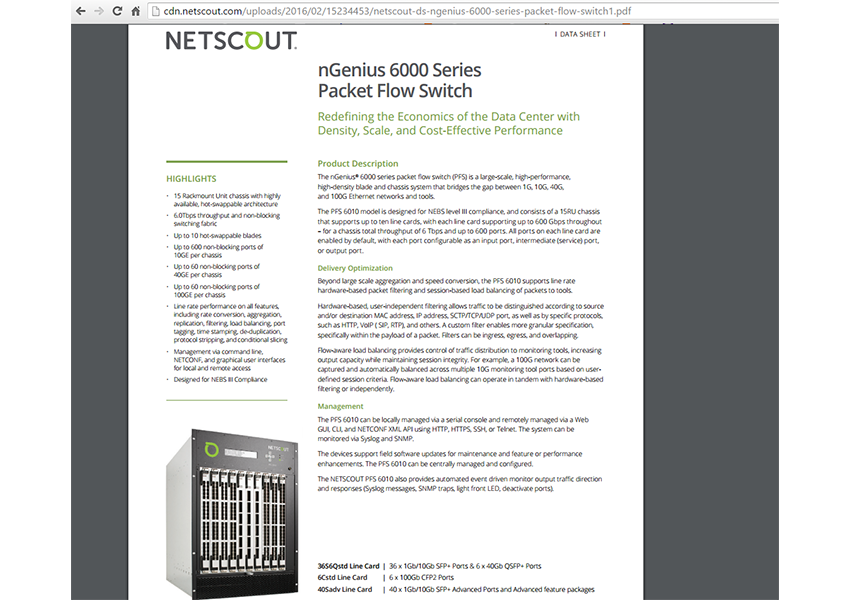 Converge! Network Digest: NETSCOUT Intros Flagship Packet