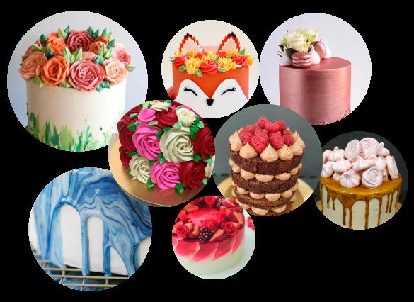Curso decoración de pasteles