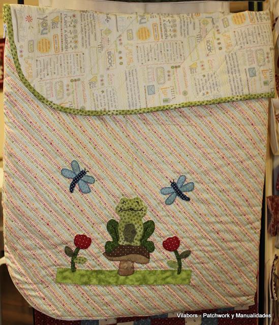 Saco para cochecito de bebé hecho en patchwork por Lidia en Vilabors