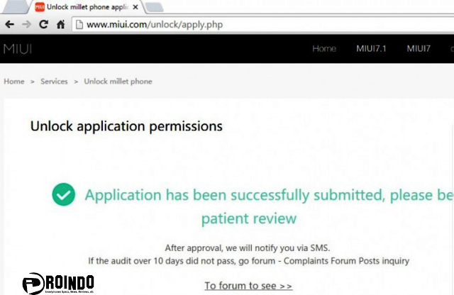 Kamu akan mendapatkan pesan  Application has been succesfully submitted, please be patient review