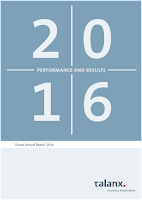 Front page of the annual 2016 report from Talanx