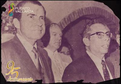 Presidente Nixo y Díaz Ordaz en Puerto Vallarta