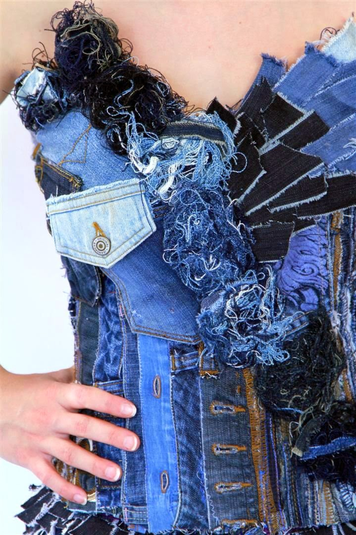 How to Recycle: Recycled Denim Jeans Dress