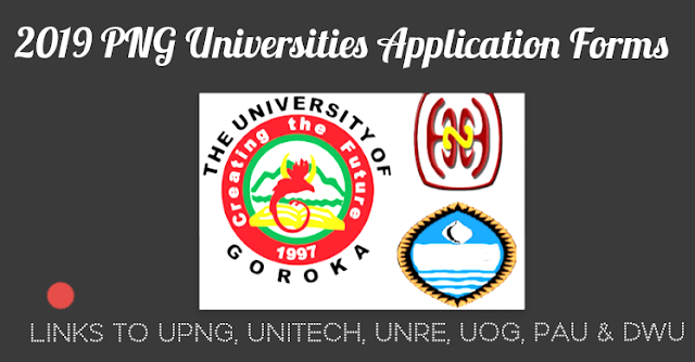 UPNG application form 2019