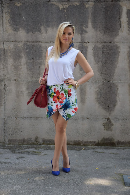 outfit skort come abbinare la skort abbinamenti skort how to wear skort how to combine skort how to match skort mariafelicia magno fashion blogger colorblock by felym outfit luglio 2016 outfit estivi summer outfits july outfits fashion blogger italiane fashion bloggers italy influencer italiane italian influencer web influencer