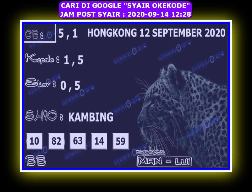 Kode syair Hongkong Senin 14 September 2020 296