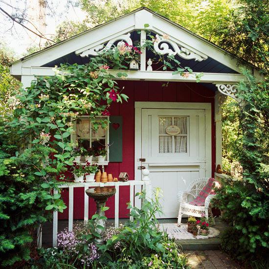 Sixpence Blue Moon: Garden Sheds