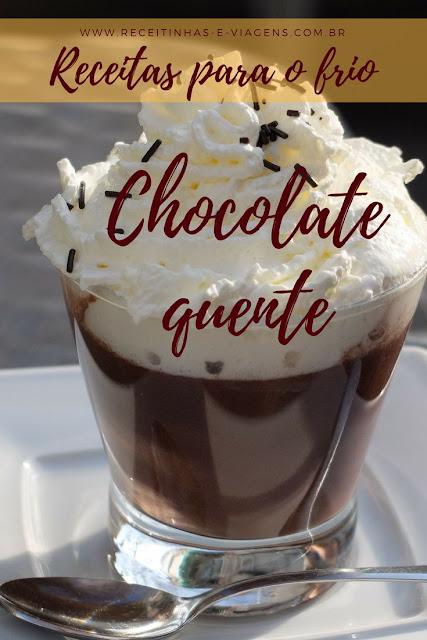 Receitas para o frio: Chocolate quente