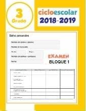 Examen Bloque 1 Tercer grado 2018-2019