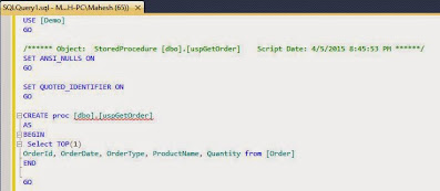 creating stored procedure 3