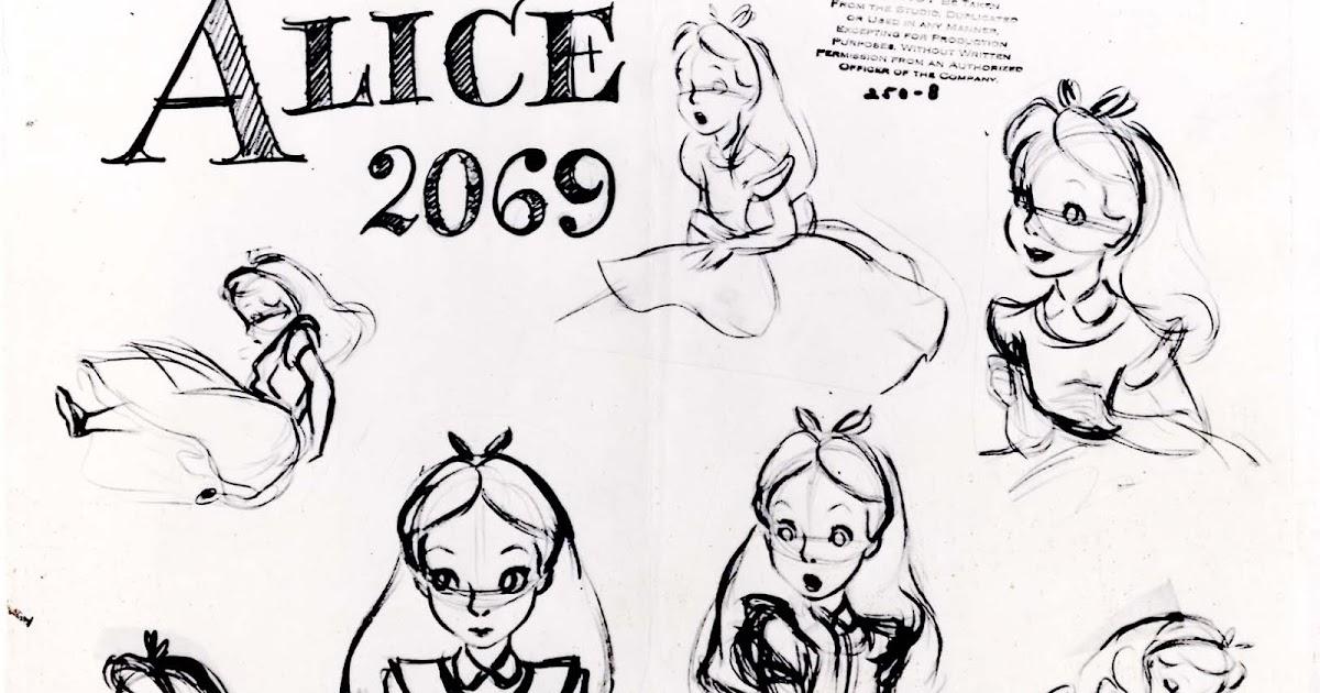 Vintage Disney Alice in Wonderland: Animation Model Sheet