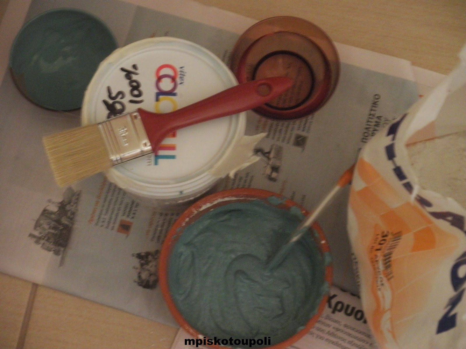 homemade chalk paint1