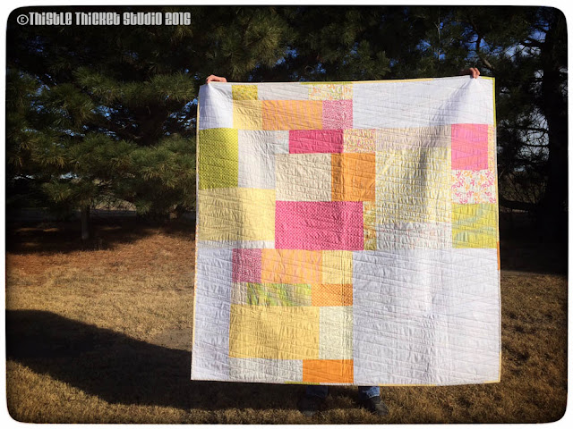 Thistle Thicket Studio, Speill It With Moda, moda, Sunkissed fabric, scrappy backing