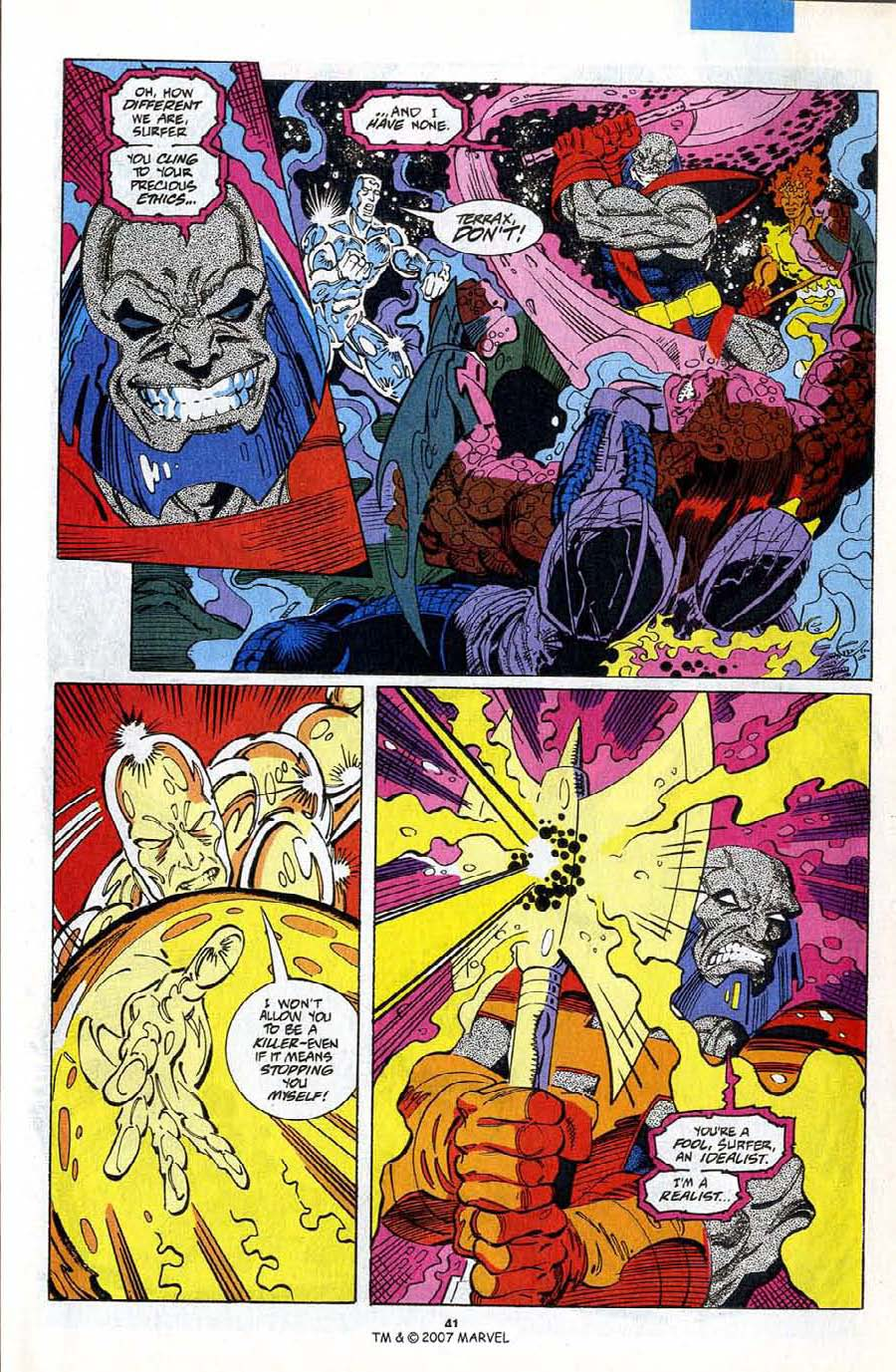 Read online Silver Surfer (1987) comic -  Issue #75 - 43