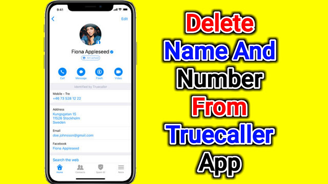 How To Delete Name And Number From Truecaller App