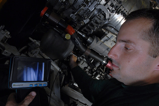 Borescope inspection of aircraft engine