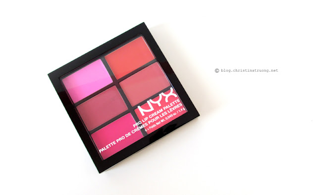 NYX Pro Lip Cream Palette The Pinks Swatches
