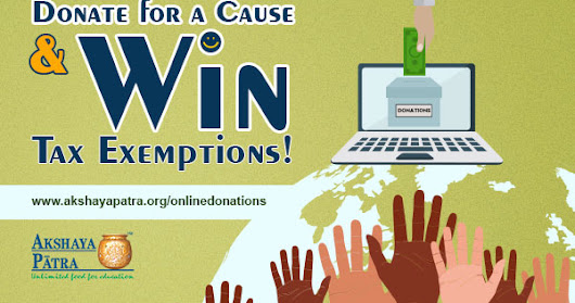 Are you looking for a tax exemption? Try donating for a cause