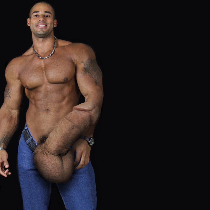 Male model naked men bodybuilding and big dick consider