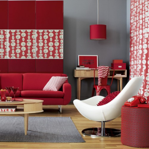 Colorful Living Space: The Colorful Living Room Moden Wallpaper
