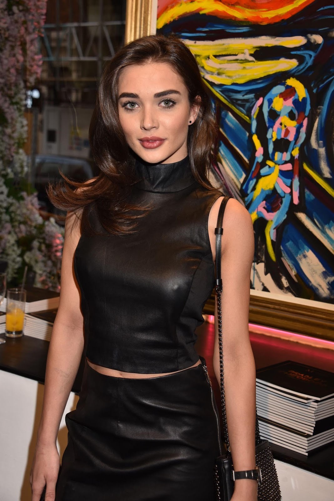 Amy Jackson Miss Teen World 2009: Lovely Ladies In Leather: Amy Jackson In A Leather Pencil