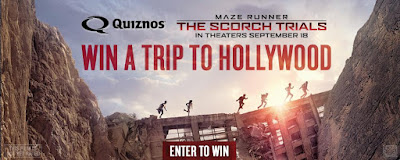 Enter the Quiznos Maze Runner Giveaway. Ends 10/12