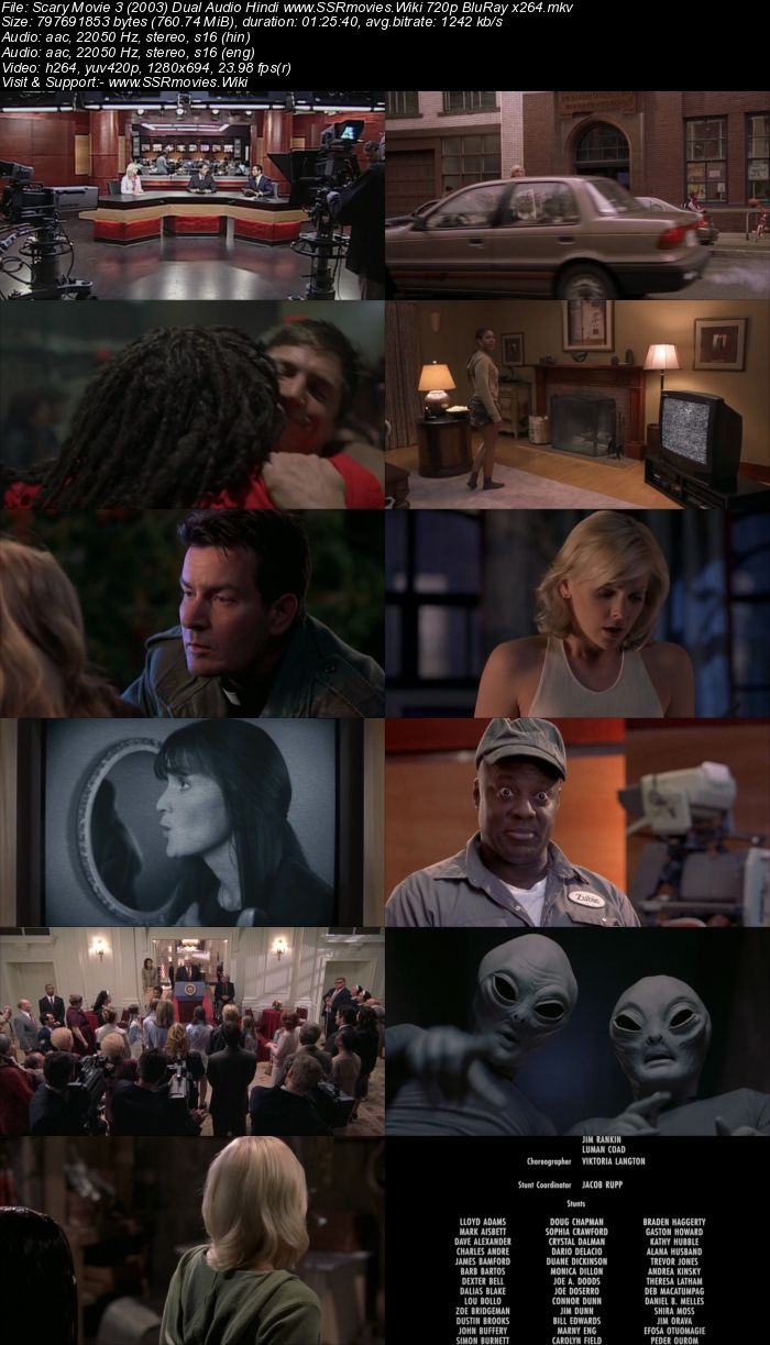 Scary Movie 3 (2003) Dual Audio Hindi 480p BluRay 300MB