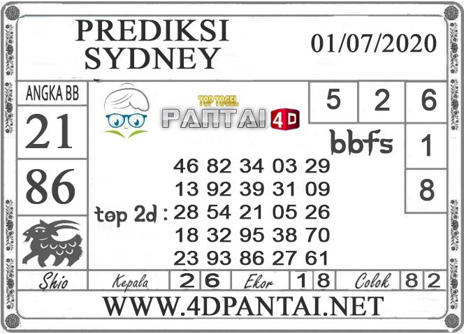 PREDIKSI TOGEL SYDNEY PANTAI4D 01 JULI 2020