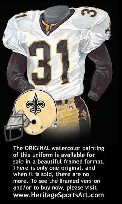 New Orleans Saints 2000 uniform