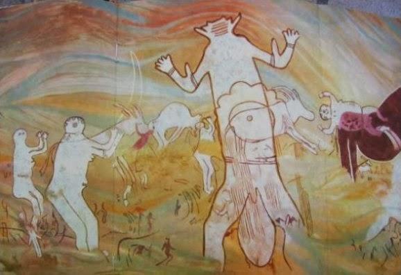 Resultado de imagem para figuras rupestres a nadar em cavernas do deserto