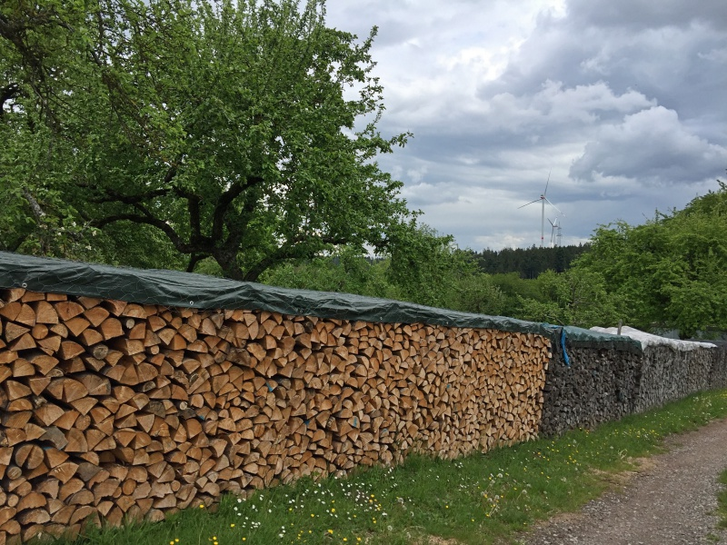 Holz auf dem Land