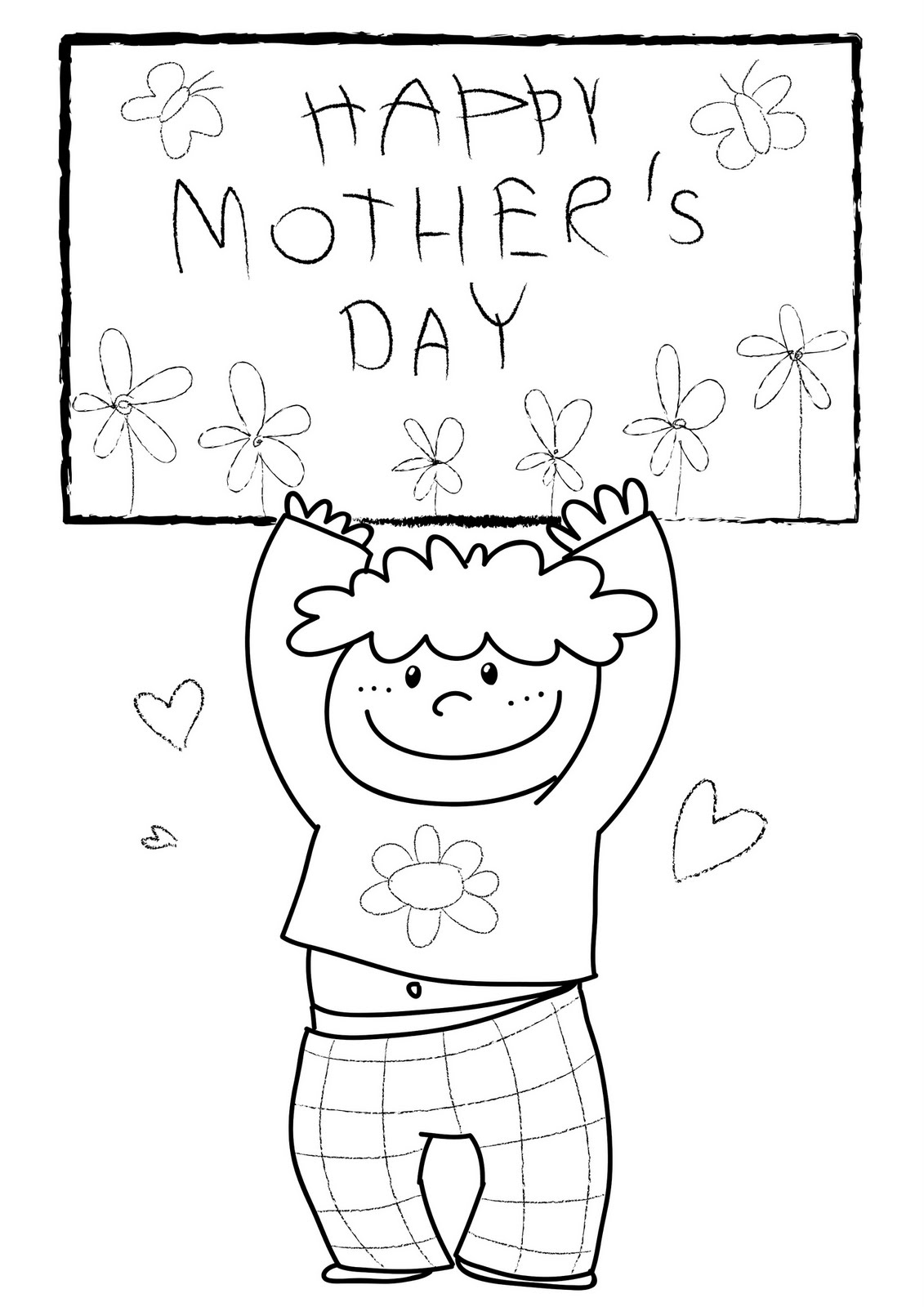 mother coloring pages for kids - photo#20
