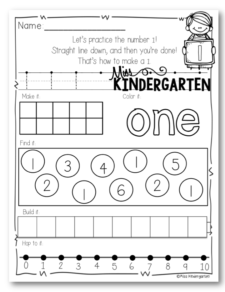 Number Formation Posters - Miss Kindergarten