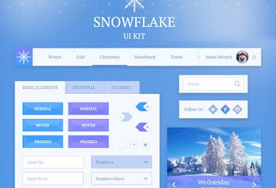 SNOWFLAKE: FREE PSD UI KIT