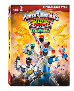DVD Review - Power Rangers Dino Super Charge: Extinction DVD Review
