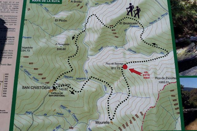 Panel con mapa de La Ruta del Silencio