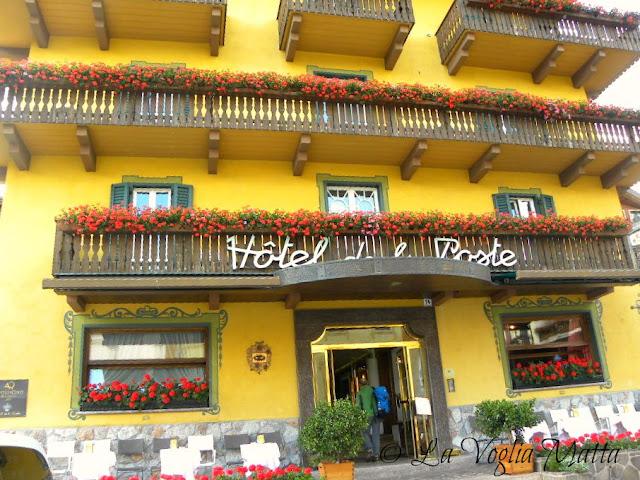 Cortina d'Ampezzo ingresso Hotel de la Poste