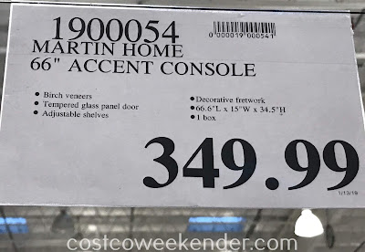 Deal for the Martin Home Accent Console at Costco