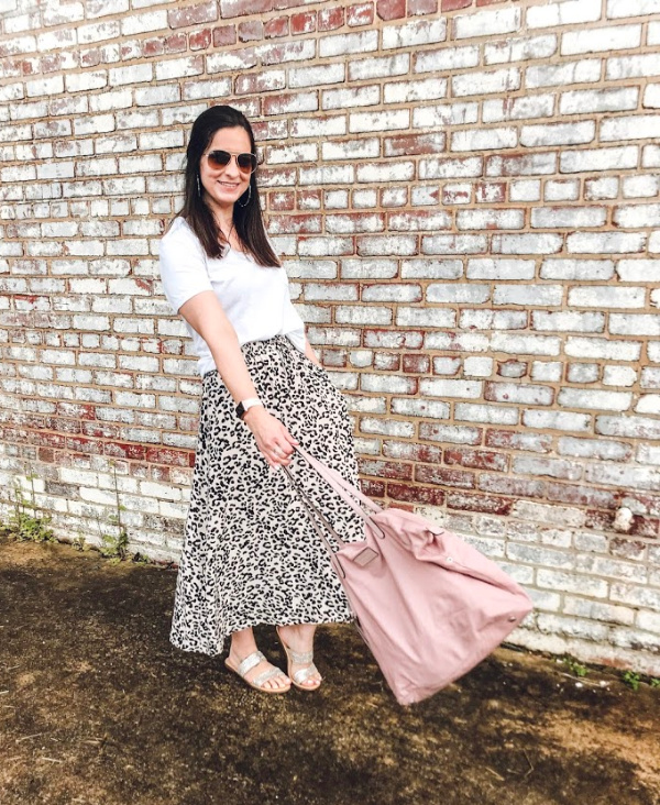 style on a budget, how to style a leopard skirt, north carolina blogger, spring style, spring outfit ideas, mom style, spring fashion