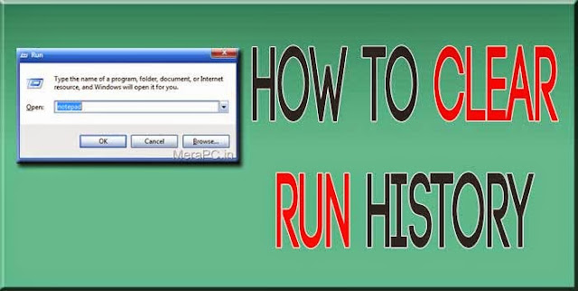 How to Clear the Run history on the start menu