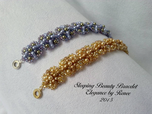Sleeping Beauty Bracelet made with 6mm Czech Trinity Beads!!!