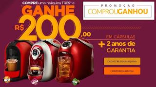 Cadastrar Promoção Máquina de Café Três Compre e Ganhe Capsulas