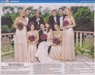 Sunday Telegraph Weddings Section | Madeline and Robert Hutchinson